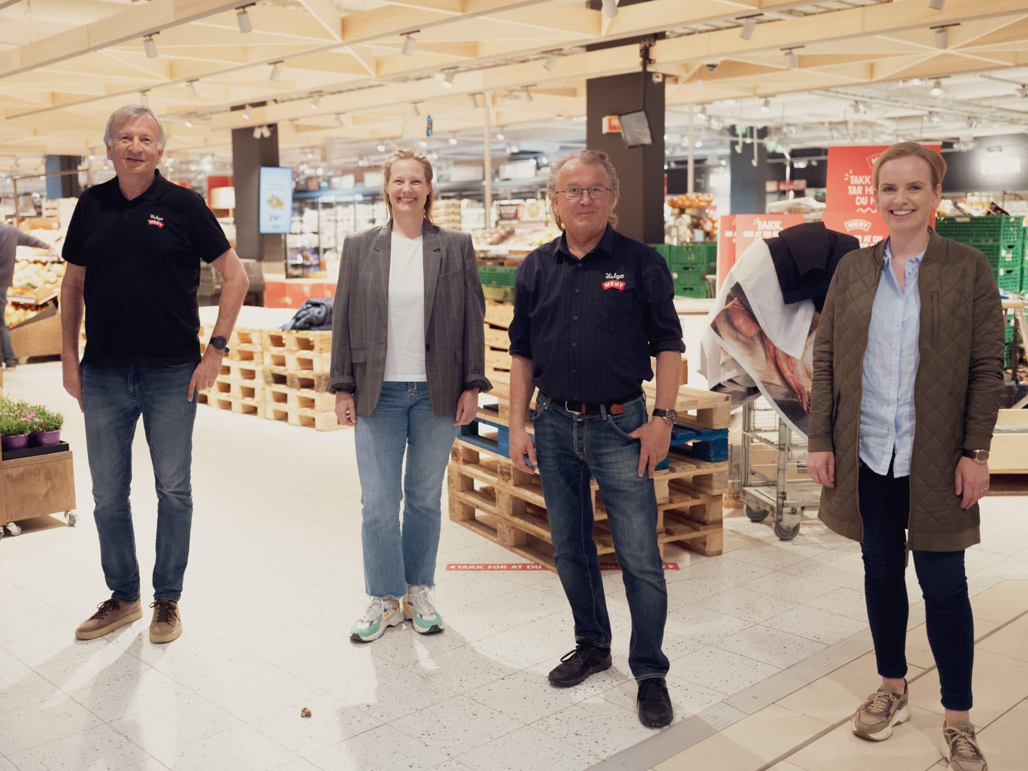 Representanter fra Gladmat, ASKE servering og Helgø Meny