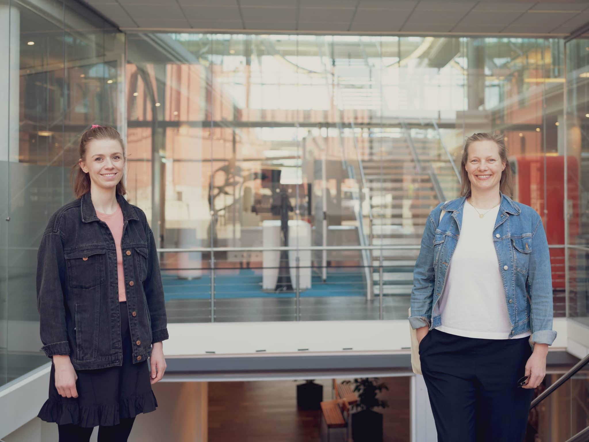 Marie Tønnessen og Maren Skjelde. Foto: Tord Paulsen